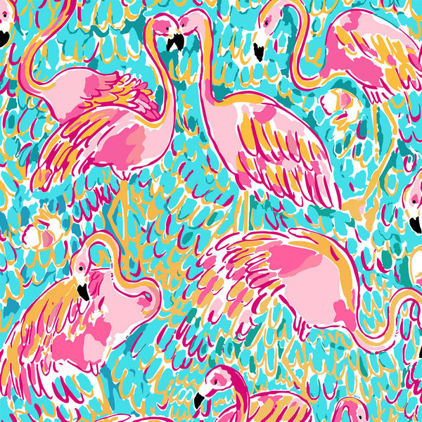 Flamingo Lilly Inspired Printed Patterned Craft Vinyl - Vinyl Boutique Shop