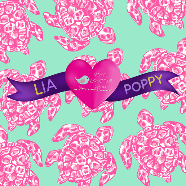 Tortoise Pink Lia Poppy Vinyl Sheet LPY-40 - Vinyl Boutique Shop