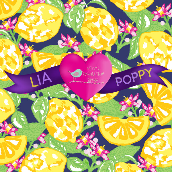 Fruit Lia Poppy Vinyl Sheet LPY-51 - Vinyl Boutique Shop