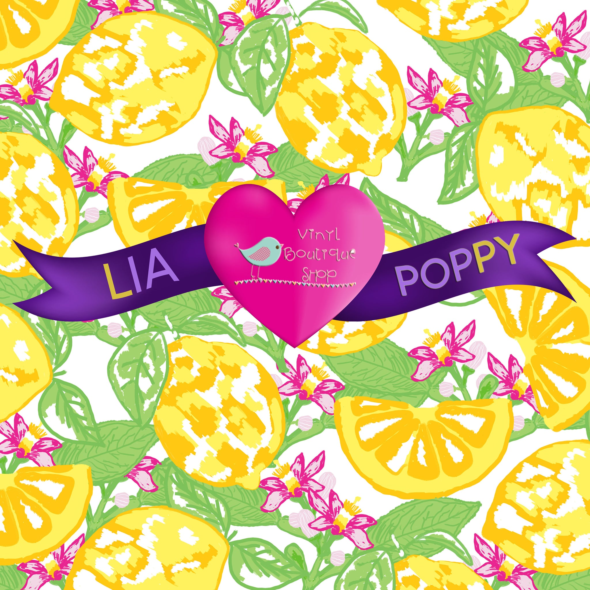 Fruit Lia Poppy Vinyl Sheet LPY-53 - Vinyl Boutique Shop