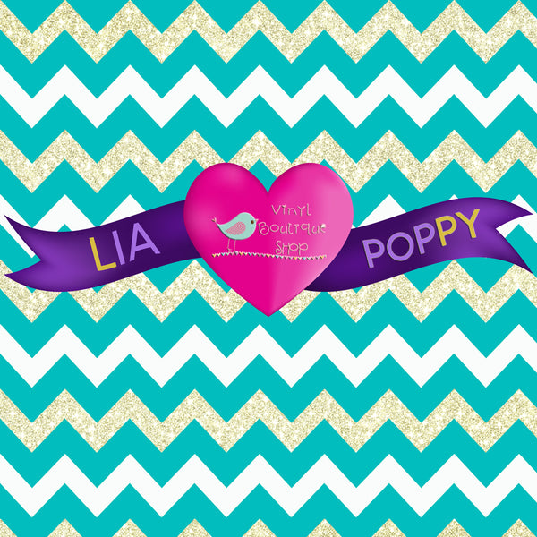 Chevron Lia Poppy Vinyl Sheet LPY-62 - Vinyl Boutique Shop