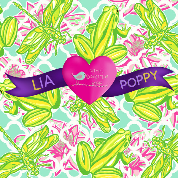 Frog Lia Poppy Vinyl Sheet LPY-83 - Vinyl Boutique Shop