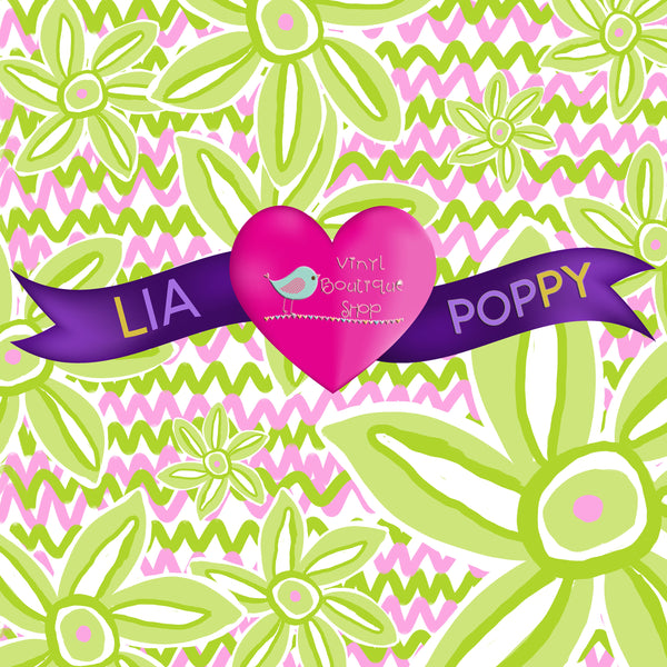 Flower Lia Poppy Vinyl Sheet LPY-119 - Vinyl Boutique Shop