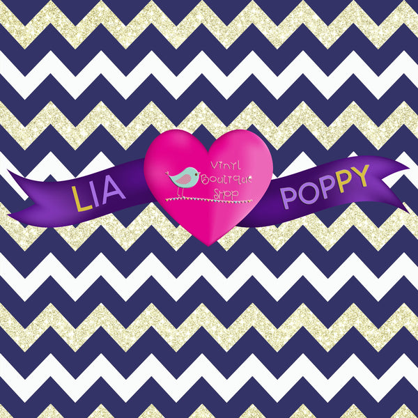 Chevron Lia Poppy Vinyl Sheet LPY-61 - Vinyl Boutique Shop