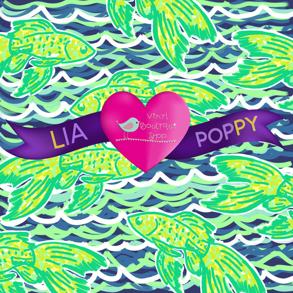Fish Lia Poppy Vinyl Sheet LPY-72 - Vinyl Boutique Shop