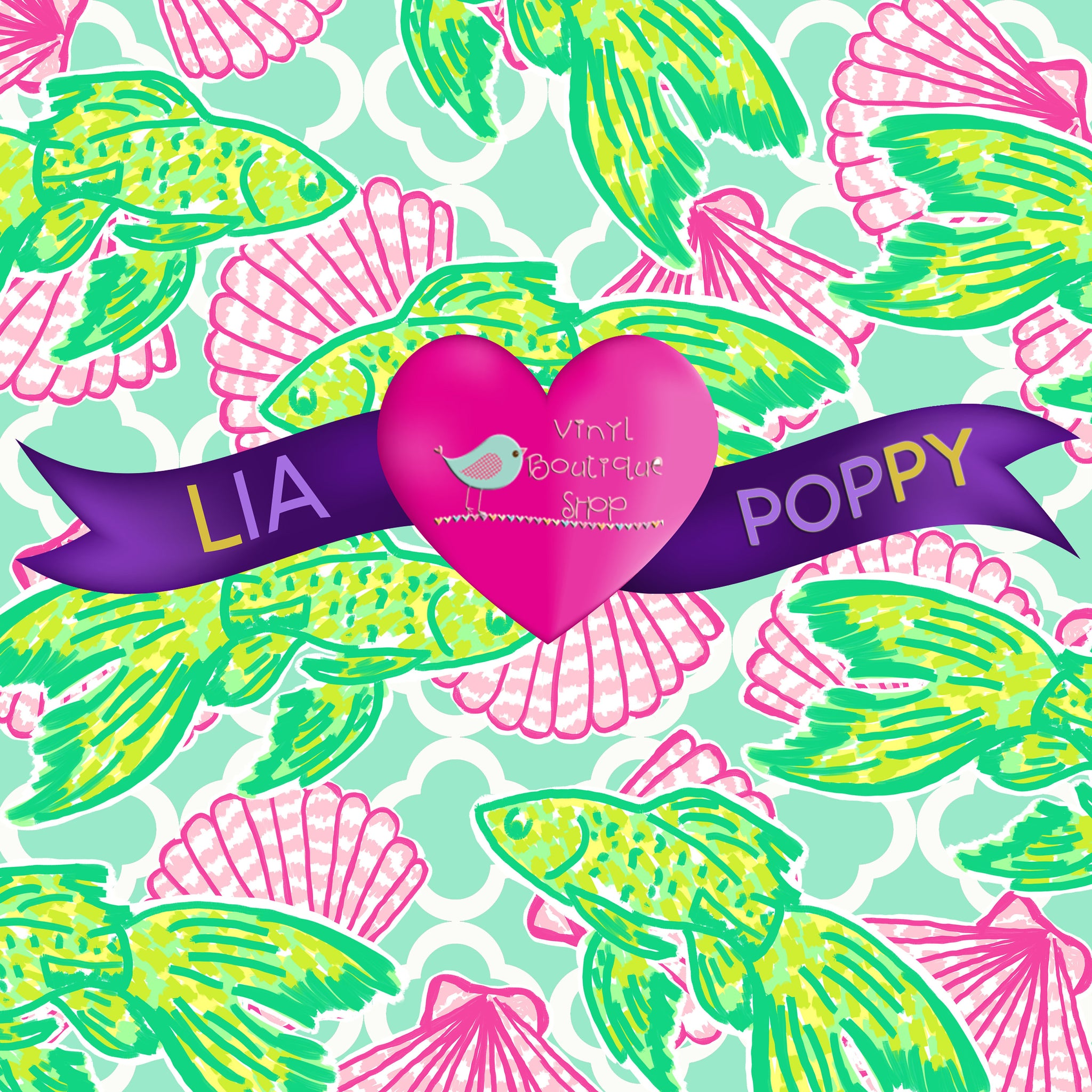 Fish Lia Poppy Vinyl Sheet LPY-74 - Vinyl Boutique Shop