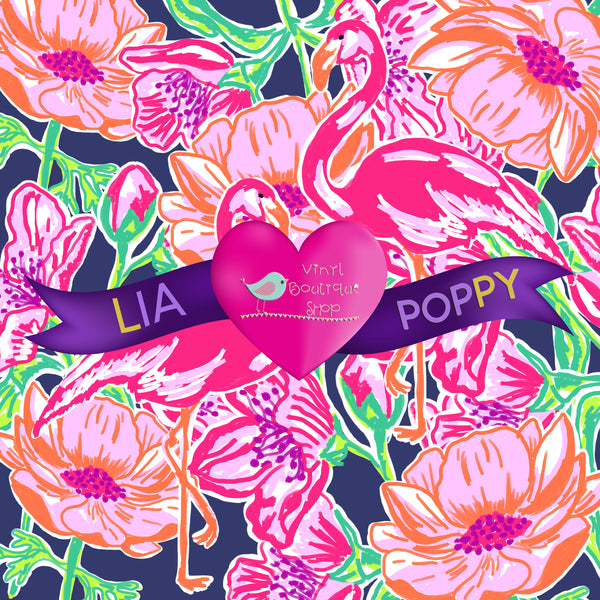 Flower Lia Poppy Vinyl Sheet LPY-87 - Vinyl Boutique Shop