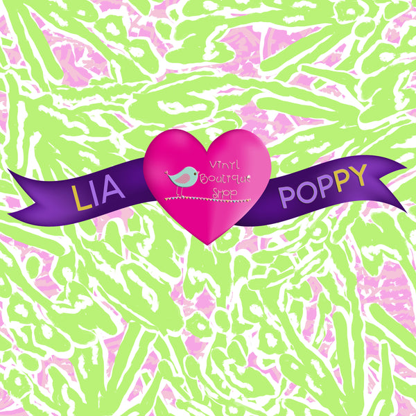 Pattern Lia Poppy Vinyl Sheet LPY-103 - Vinyl Boutique Shop