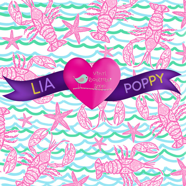 Lobster Lia Poppy Vinyl Sheet LPY-110 - Vinyl Boutique Shop