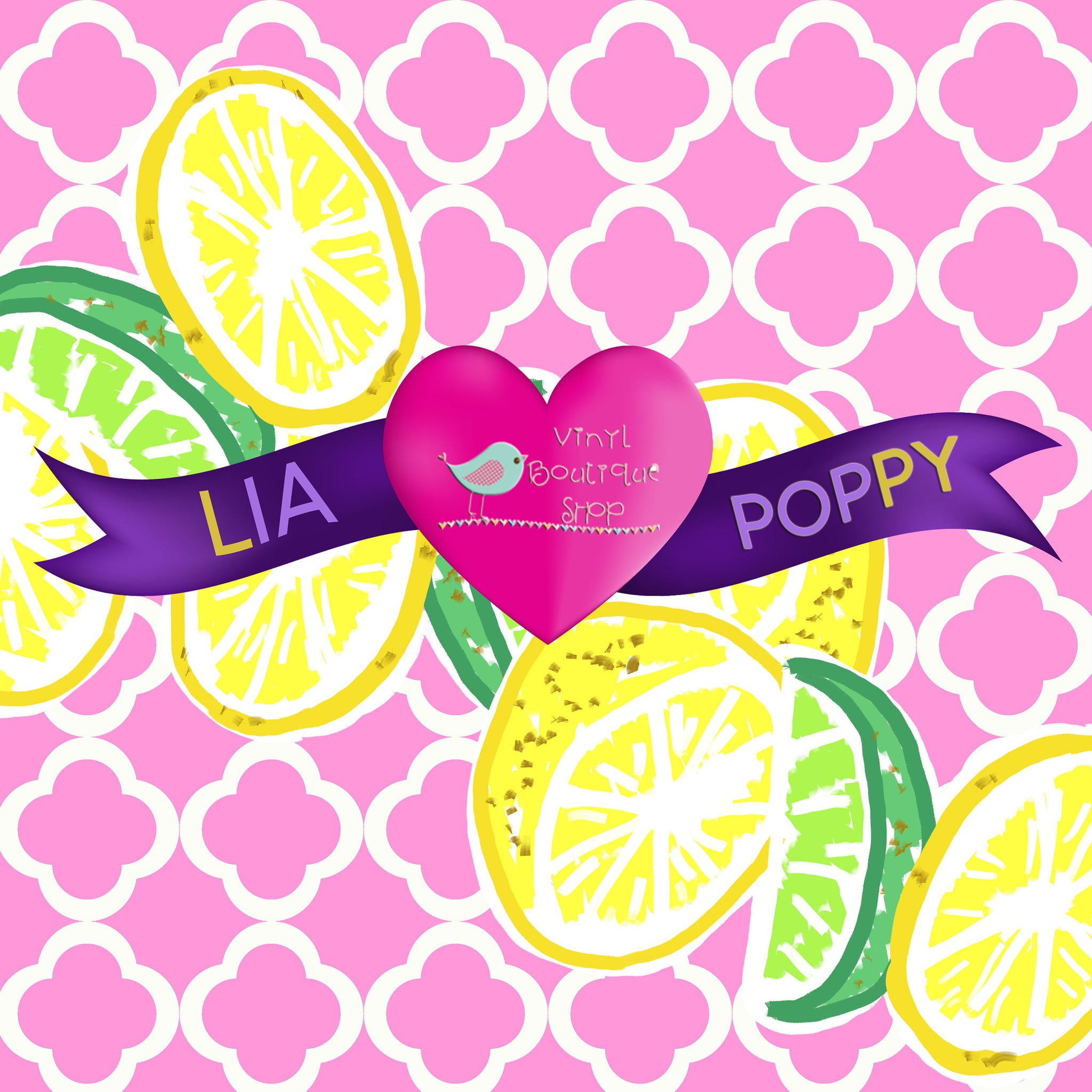 Lime Lia Poppy Vinyl Sheet LPY-113 - Vinyl Boutique Shop