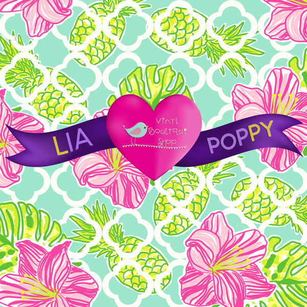 Flower Lia Poppy Vinyl Sheet LPY-124 - Vinyl Boutique Shop