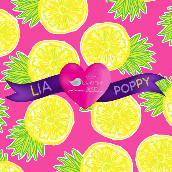 Fruit Lia Poppy Vinyl Sheet LPY-125 - Vinyl Boutique Shop
