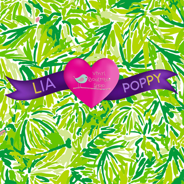 Pattern Lia Poppy Vinyl Sheet LPY-163 - Vinyl Boutique Shop