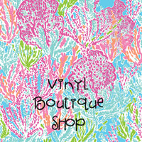 Let'S Cha Cha  Lilly Inspired Printed Patterned Craft Vinyl - Vinyl Boutique Shop