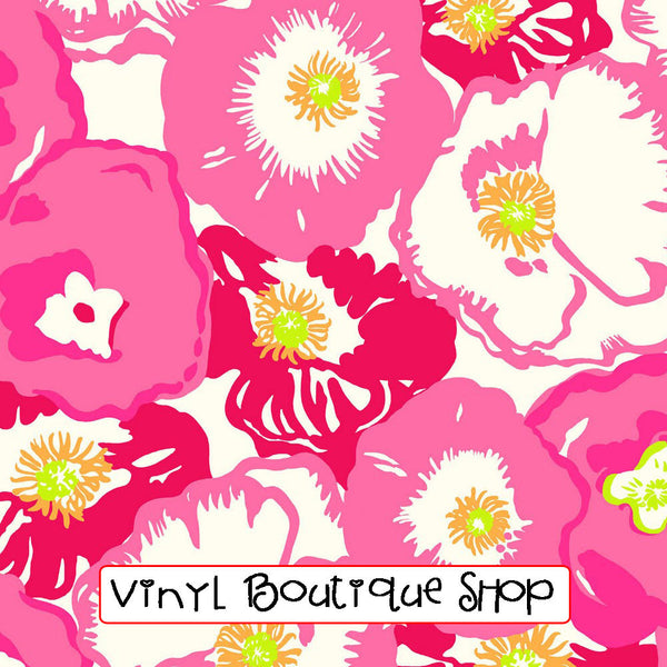 Cherry Begonias Lilly Inspired Vinyl - Vinyl Boutique Shop