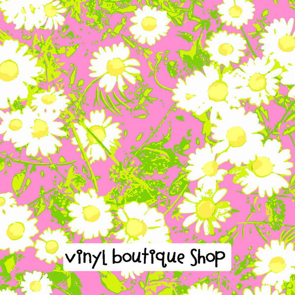 Full Sun Lilly Inspired Printed Patterned Craft Vinyl - Vinyl Boutique Shop