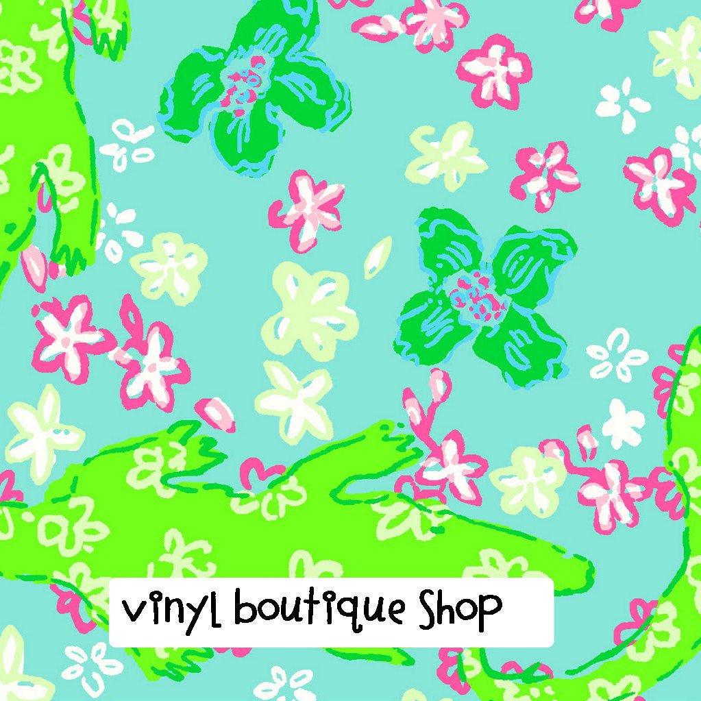 Gator  Lilly Inspired Printed Patterned Craft Vinyl - Vinyl Boutique Shop
