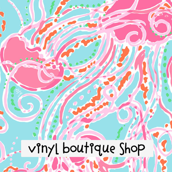 Jellies  Lilly Inspired Printed Patterned Craft Vinyl - Vinyl Boutique Shop