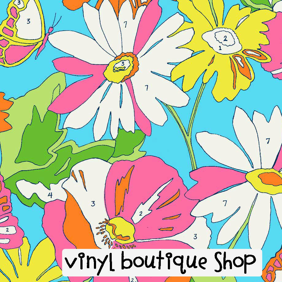 Lilly Paint By Number Lilly Inspired Printed Patterned Craft Vinyl - Vinyl Boutique Shop