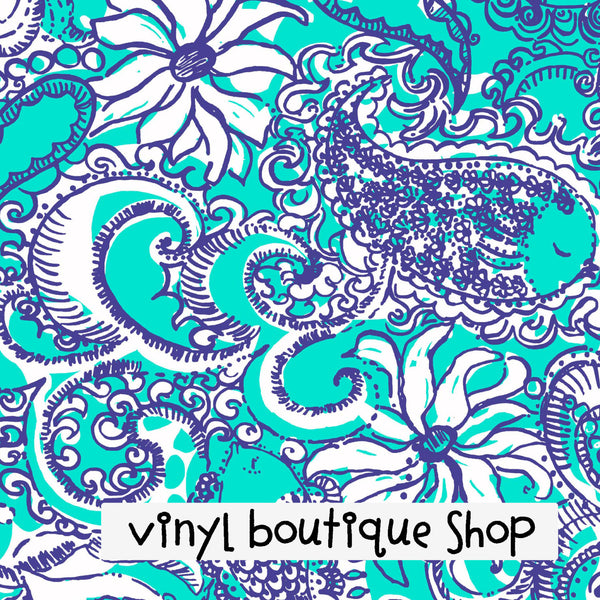 Summer Shape Up Or Ship Out Lilly Inspired Printed Patterned Craft Vinyl - Vinyl Boutique Shop