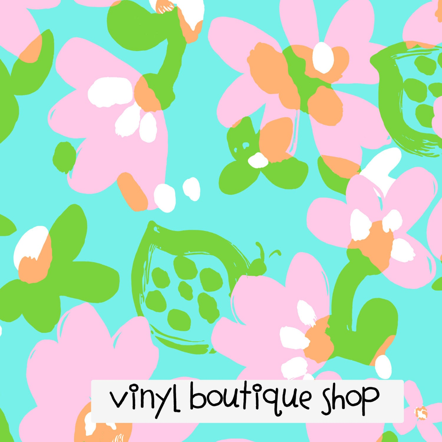Mojo Flower Floral Pink Lilly Inspired Printed Patterned Craft Vinyl - Vinyl Boutique Shop