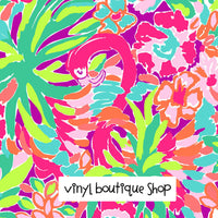 Lulu Flamingo Bird Lilly Inspired Printed Patterned Craft Vinyl - Vinyl Boutique Shop
