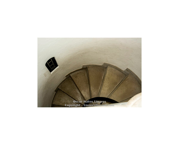 """Interior Staircase of Pinewood Estate"" - Architecture Art"