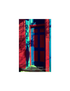 """Red and Blue Door"" - Architecture Art"