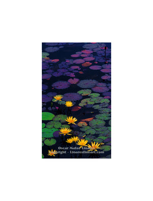 """Water Lily Pond"" - Botanical Art"