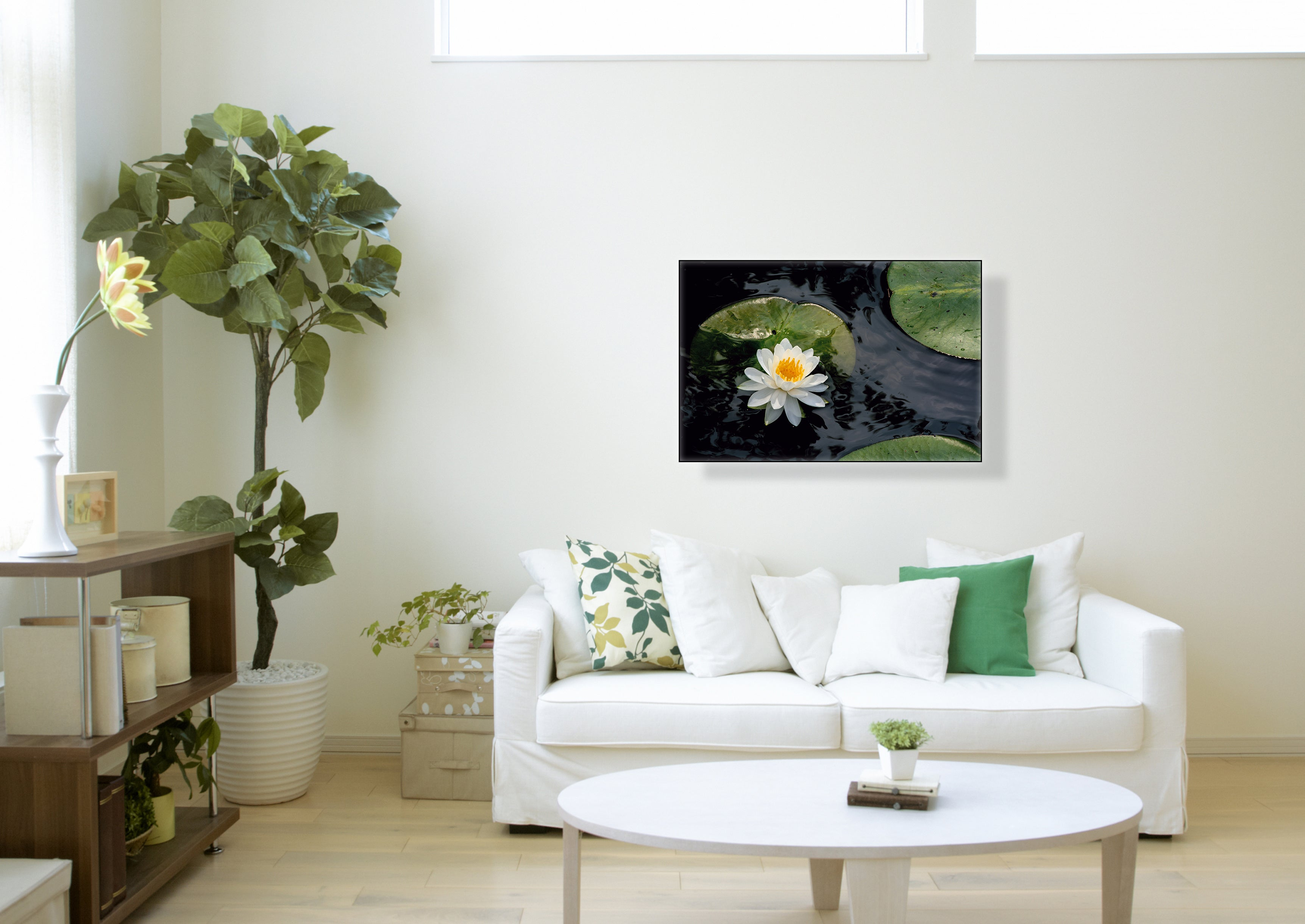 """White Water Lily at Humboldt Park"" - Botanical Art"
