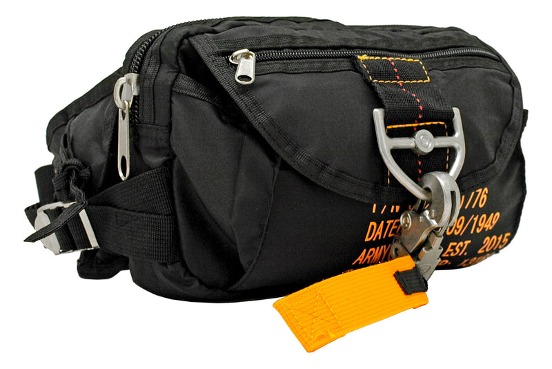 Tactical Parachute Fanny Pack - Black