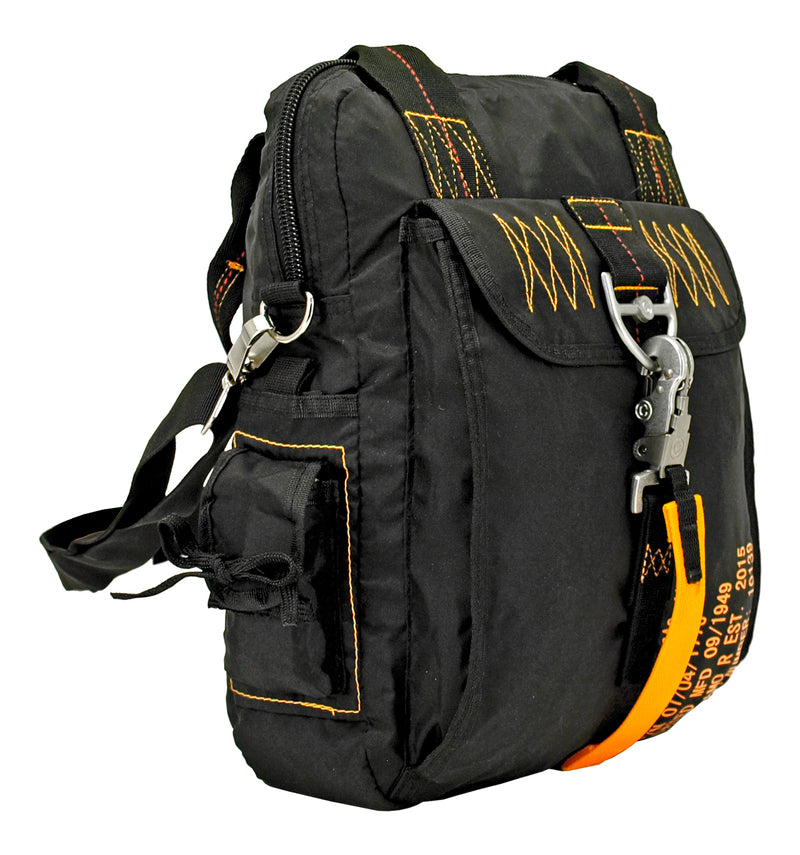 Tactical Parachute Side Pack - Black