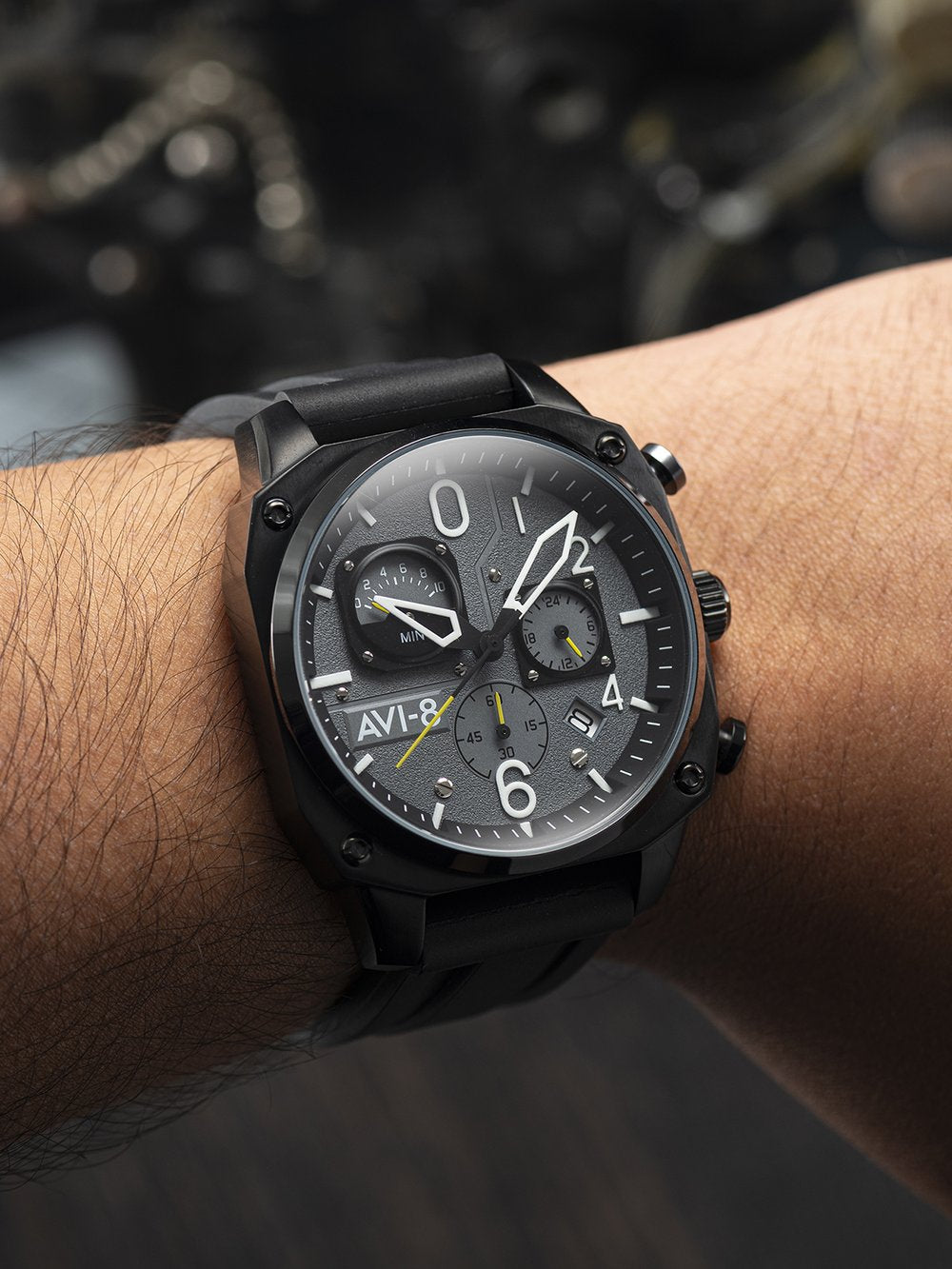 Hawker Hunter - Retrograde Chronograph Edition (Tactical Black)  AV-4052-R1, Bunker 27