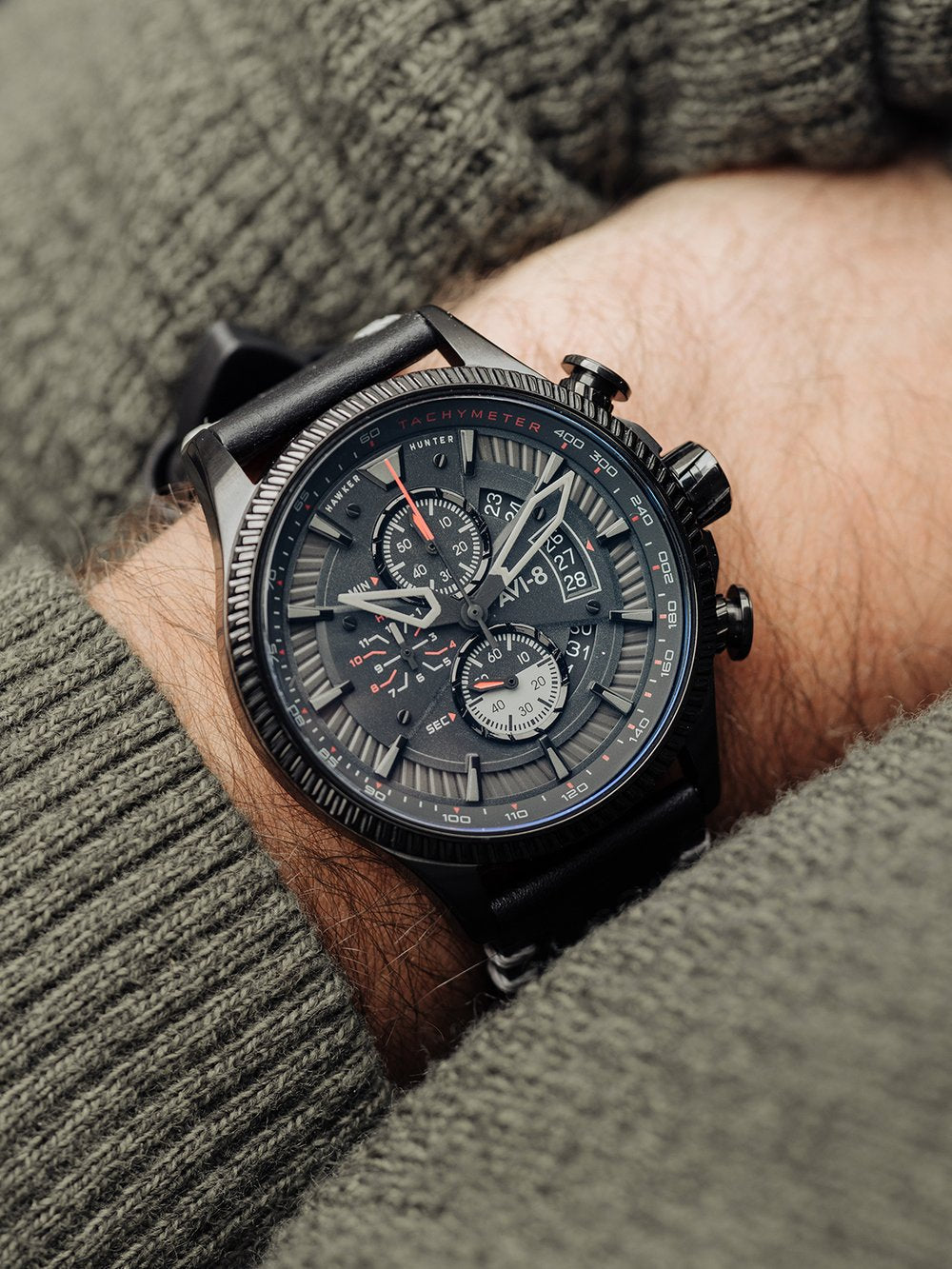 Hawker Hunter - Avon Chronograph Edition (Stealth Black)  AV-4064-05, Bunker 27