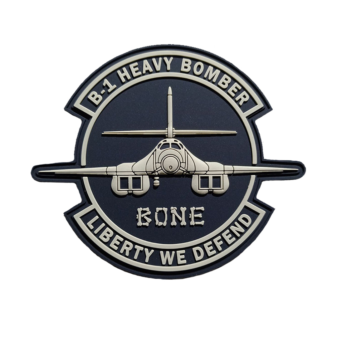 "B-1 Bone 3.5"" PVC Patch"