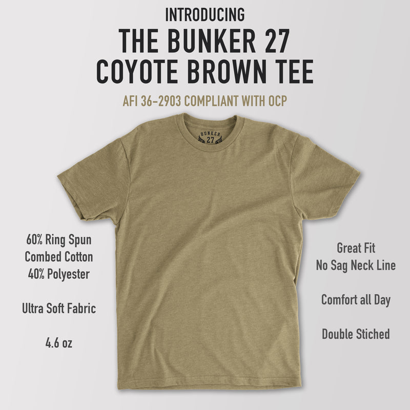 3-Pack Bunker 27 Coyote Brown T-Shirt AFI 36-2903