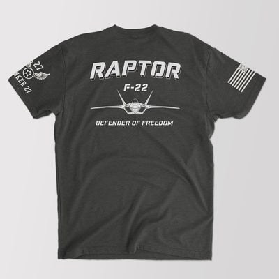 F-22 Raptor T-shirt, aviation t-shirts, military t-shirts, bunker 27