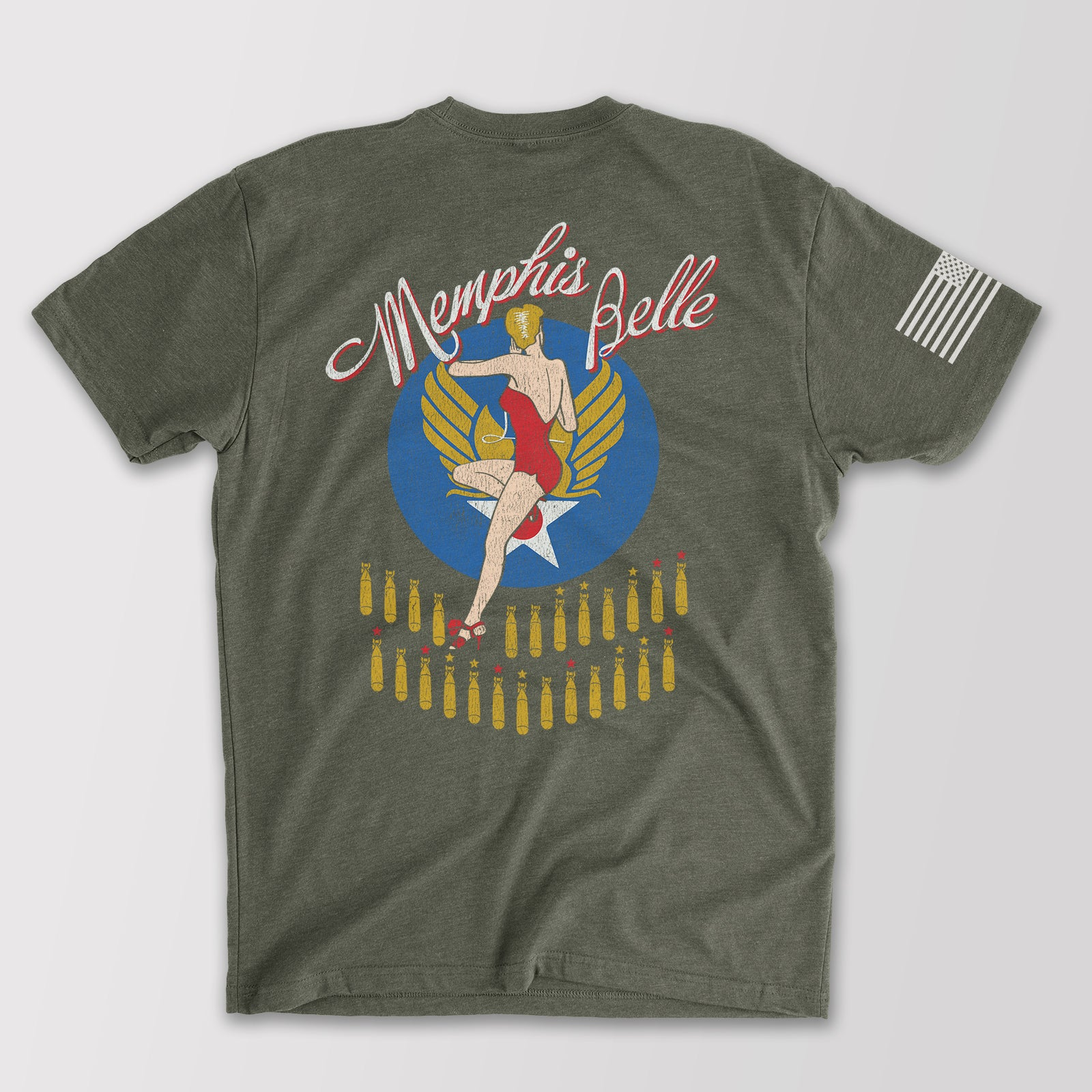 Memphis Belle T-Shirt Military Green Bunker 27