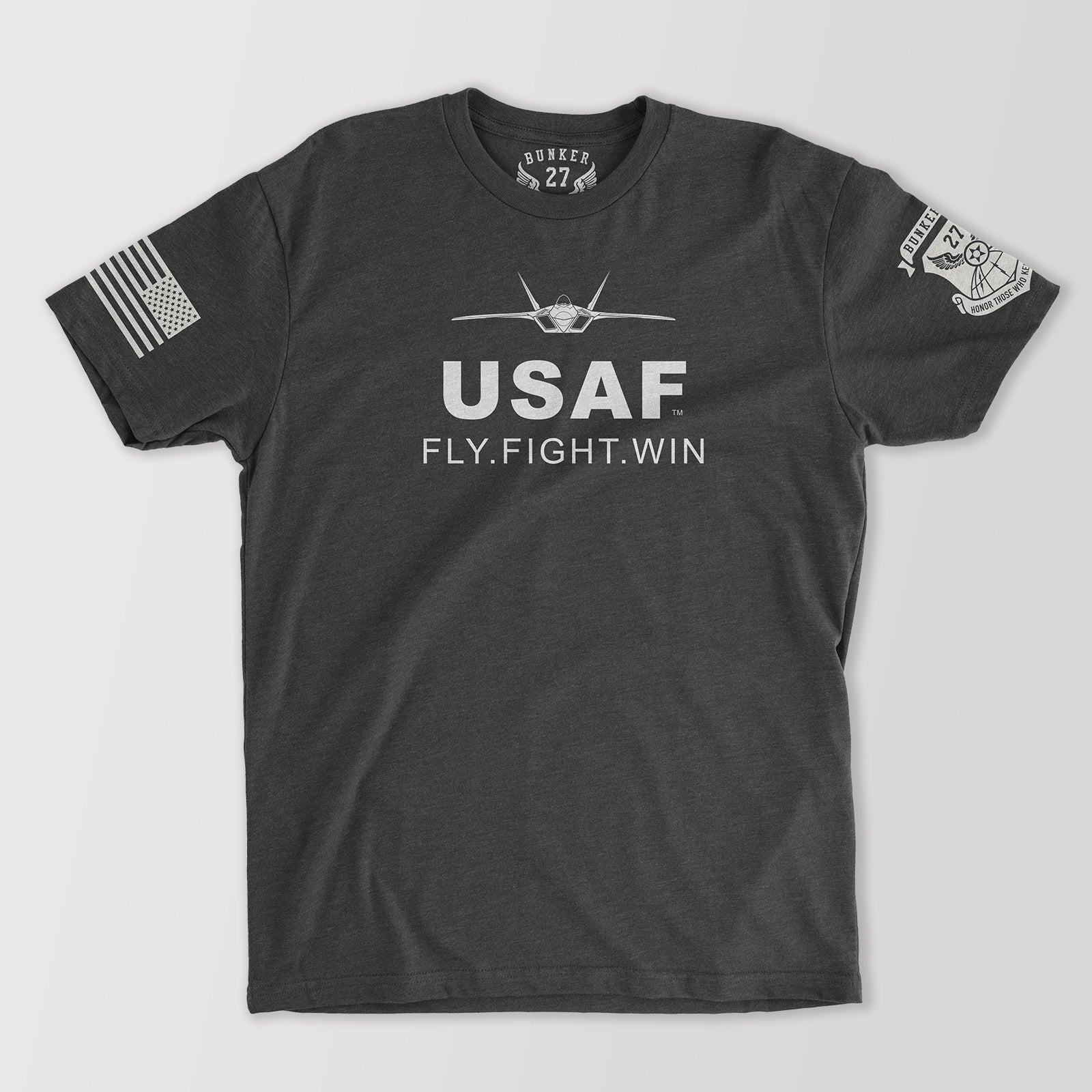 Official U.S. Air Force Fly Fight Win T-Shirt, Bunker 27