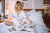 The Mockingbird Lounge Set - Women's all White Pajama Set