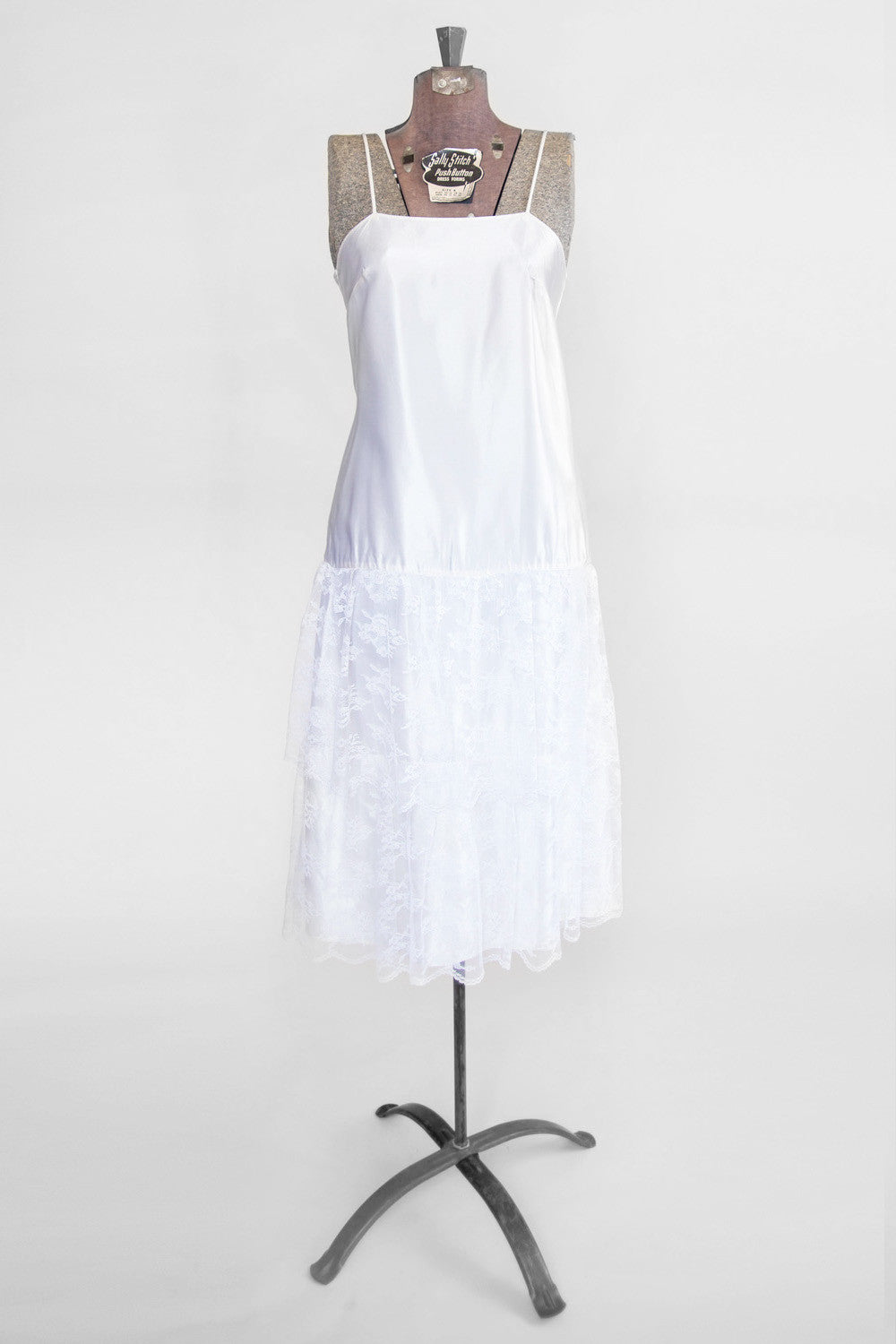 Vintage Women's White Slip Dress