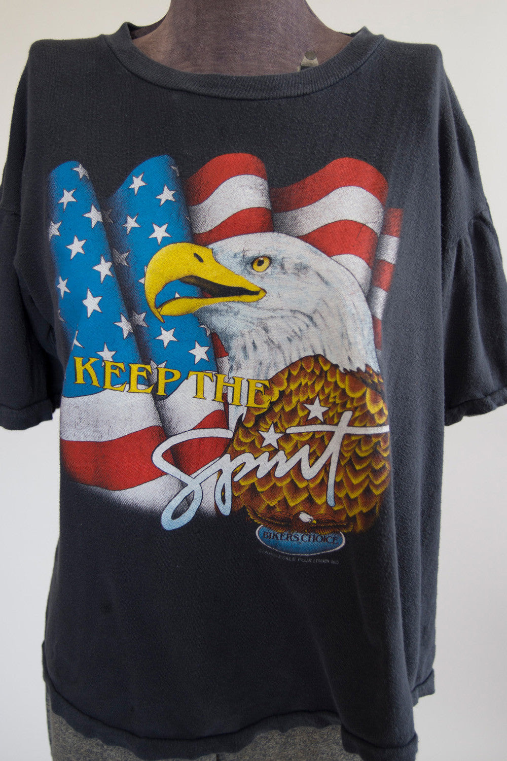 "Vintage ""Keep The Spirit"" Biker Tee"