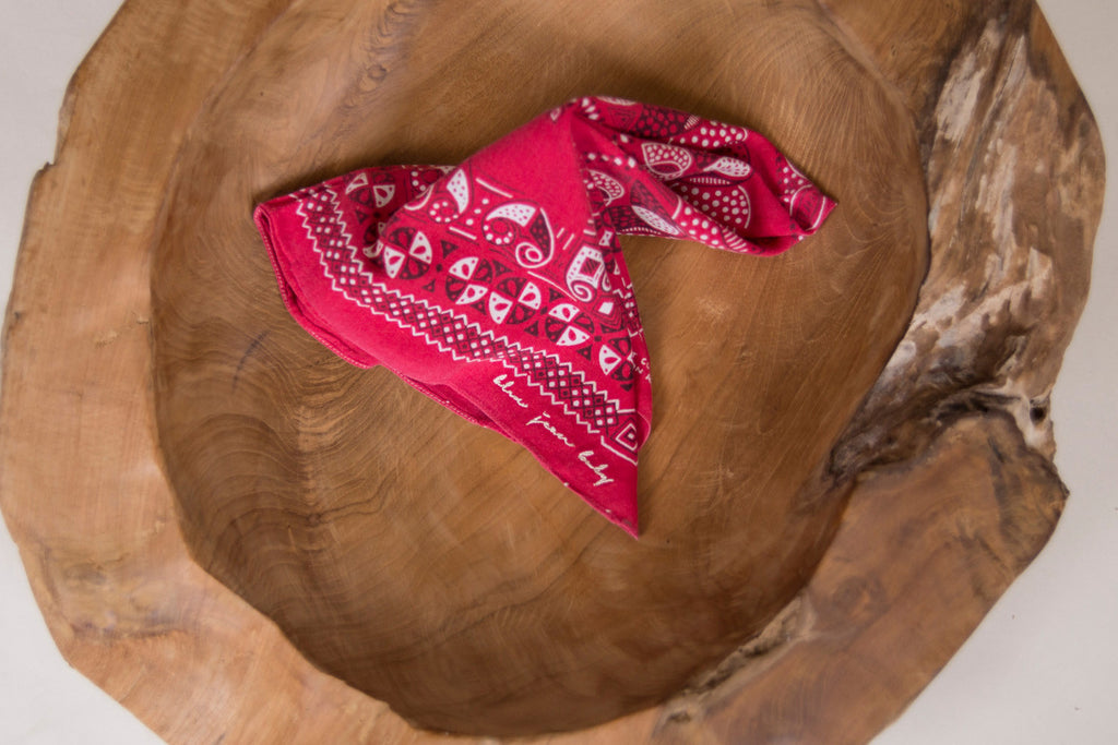 Faded Tribal / Fast Color Bandana - Vintage Accessories