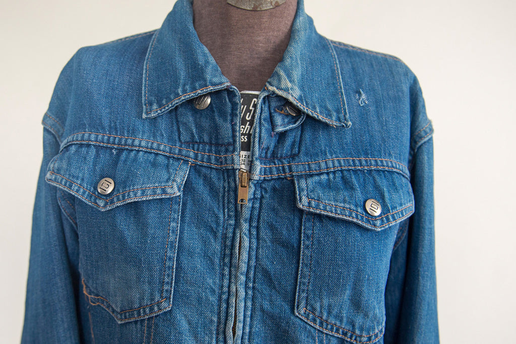 Montgomery Ward 101 Zip-Up - Vintage Women's Denim Jacket