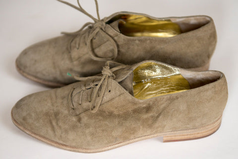 Escada Suede Oxfords