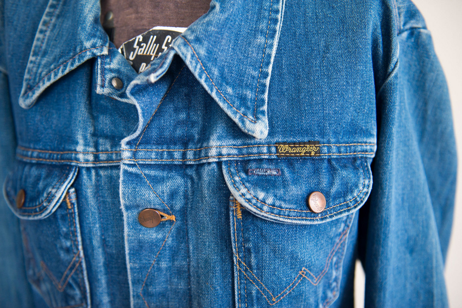 Dark Denim Wrangler Button-up
