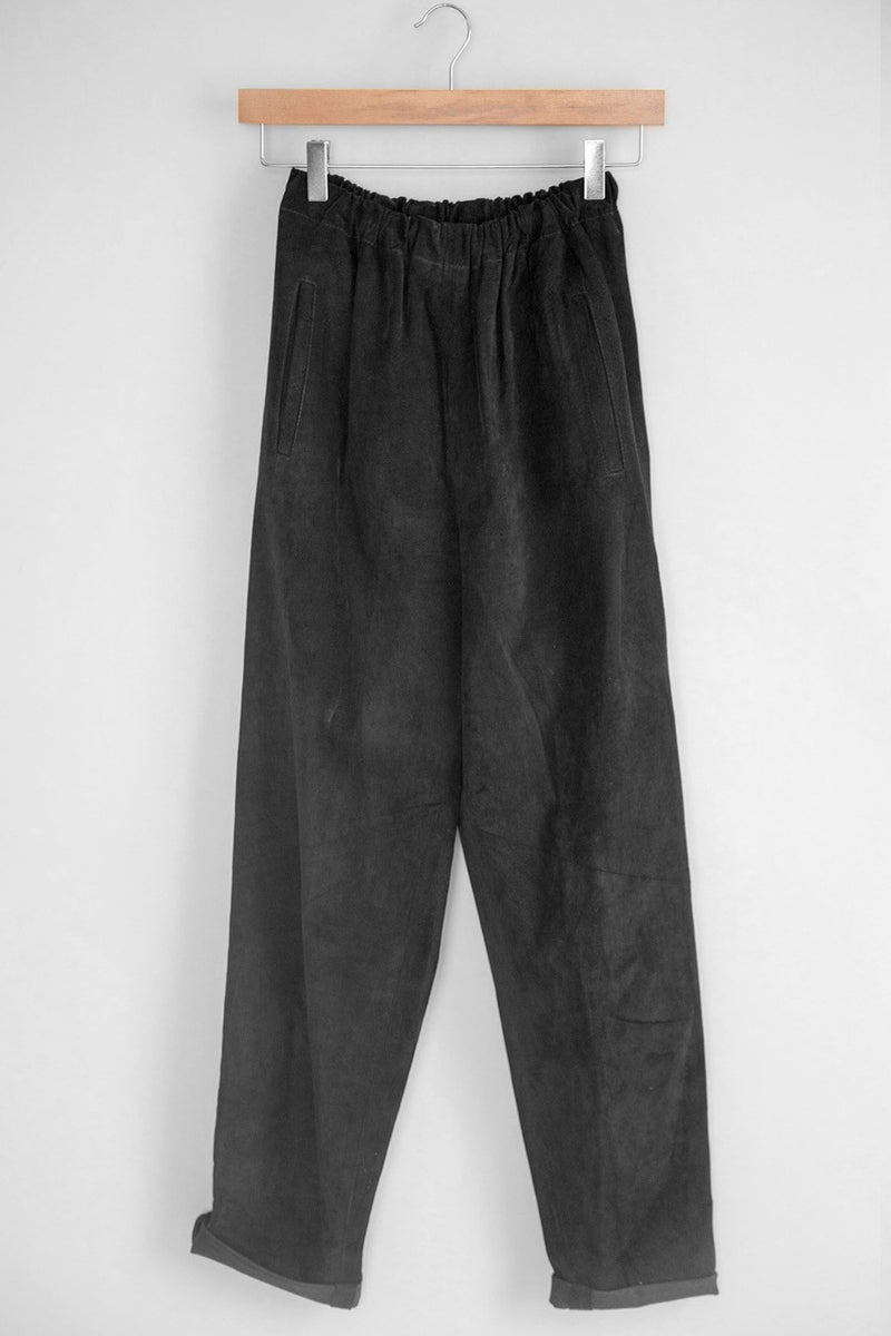 Vintage Women's Black Bottoms - Slouchy Suede Pant