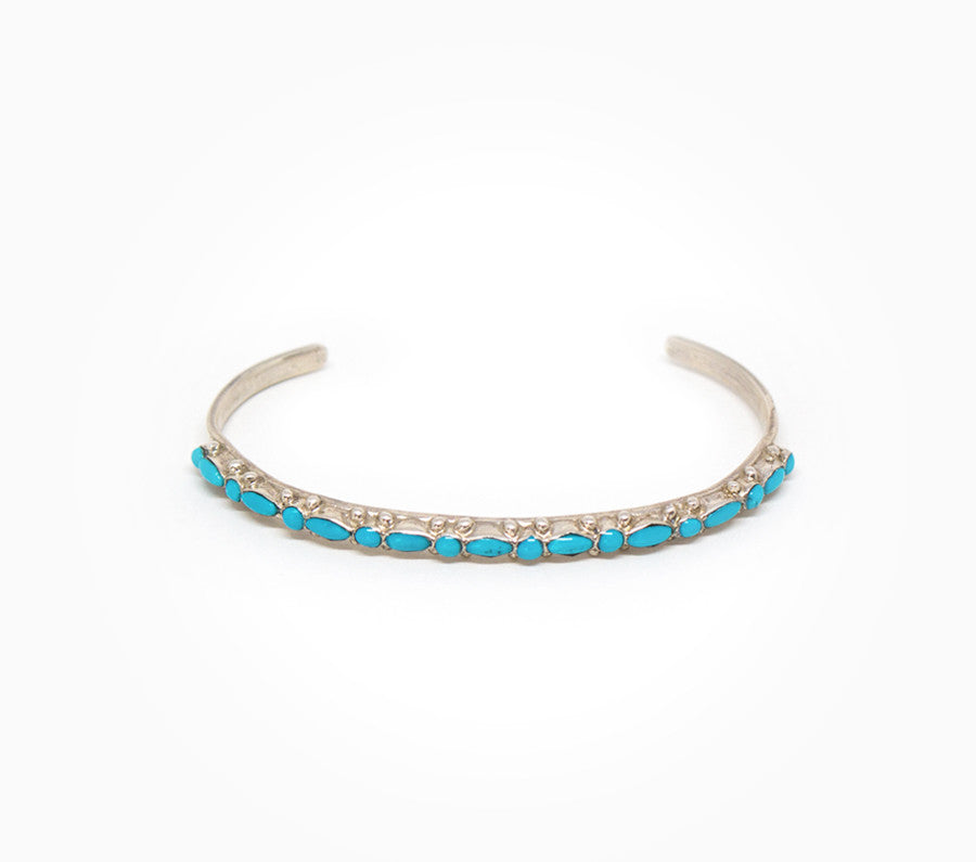 Dainty Mixed Shape Turquoise Cuff