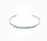 Dainty 9 Stone Turquoise Cuff - Women's Turquoise Jewelry