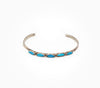 Dainty 5 Stone Turquoise Cuff
